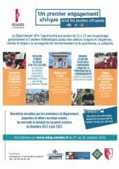 2e édition ! PASSEPORT VENDÉE CIVISME 2021-2022 : 5 nouveaux rendez-vous citoyens pour les 11-13 ans