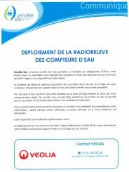 DEPLOIEMENT DE LA RADIORELEVE DES COMPTEURS D'EAU